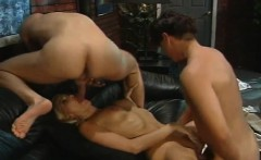 Stacy Valentine gets anal being double penetrated