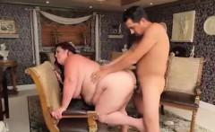 Guy plays with slut's boobs