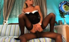 Blonde milf in interracial deepthroat and anal