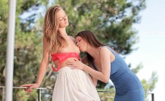 Lesbians in the wind HD -teen tight pussy luv