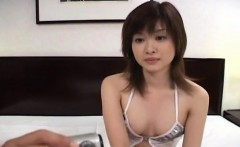 Mai Yamasaki grins while enduring an enema