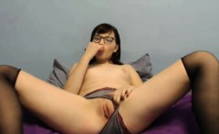 Barely legal 18 Rose Blossom penetrates pussy