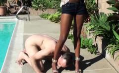 White submissive feet fetishist