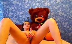 Cute Chick Enjoying Her Adult Toy
