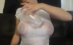 Girl Gets Her Big Tits Wet