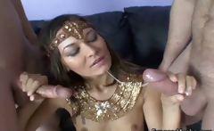 Skinny Arabian girl gets fucked