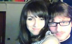 Teen couple plays on webcam, she loves riding him