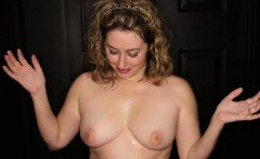 Milf gets cum all over her face