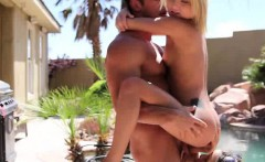 Teen Best Friends Fucked And Sharing Facial Outdoors By pool