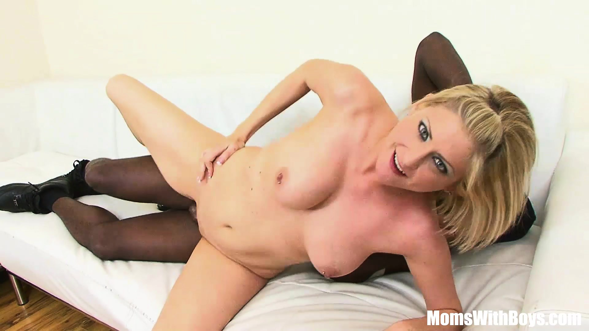 Blonde MILF Lya Pink With Pierce Nipples Interracial Fuck