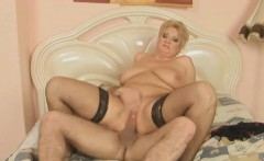 Beautiful Blonde Italian Shorthair BBW Granny