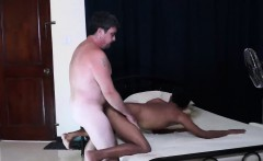 Cute asian with a tattoo and daddy love bareback sex