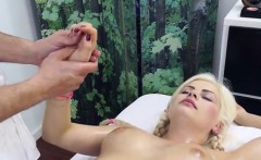 Blonde Client Alberta Blance Gets Fingered By Masseur