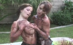 Sexy girls ride the biggest strap-ons and spray ejaculate ev