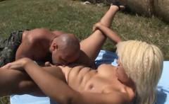 Nice Spanish blonde Jenny fucked outdoor