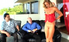 Enchanting blonde wife with lovely tits has wild sex with a hung stud