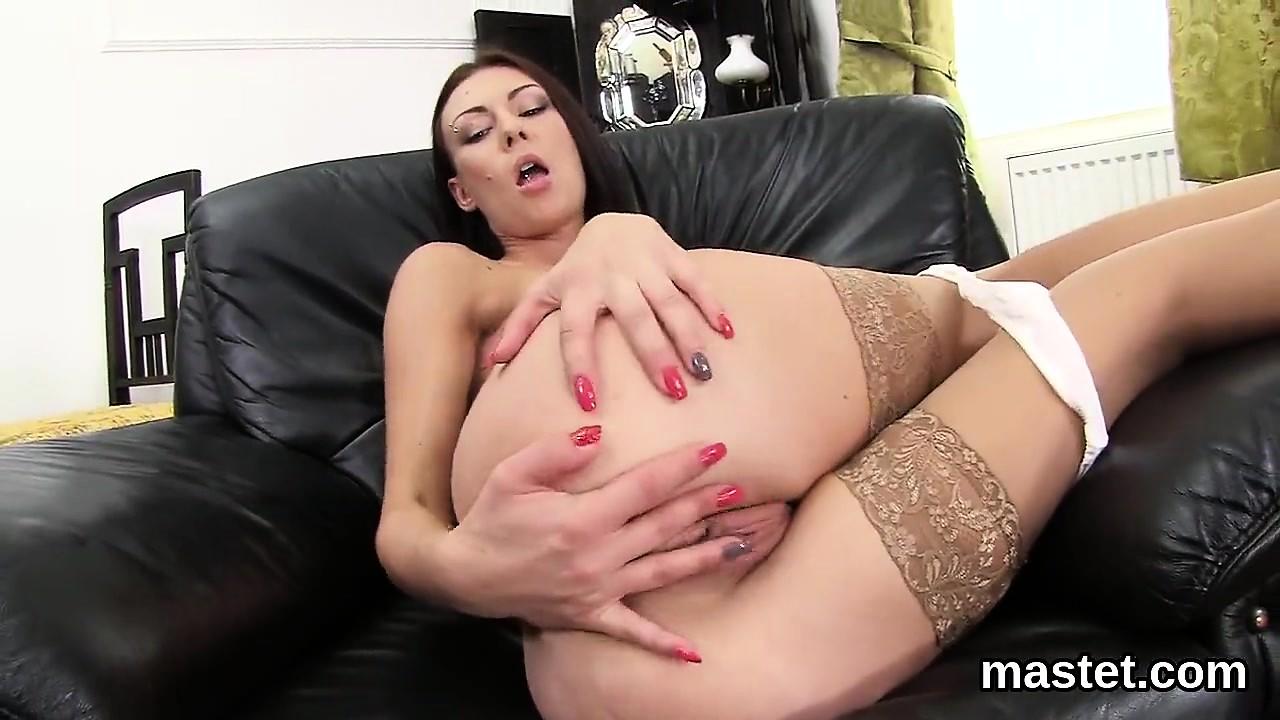 Hot czech kitten spreads her spread cunt to the unusual