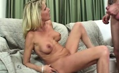 Flexible Busty Blonde Mature Bridgett Lee Devours Cock