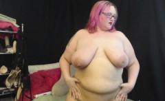 sexy alt goth bbw sara star plays with her big belly