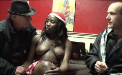 Real ebony hooker cumshot