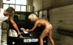 The auto mechanic fucks the spoiled bitch