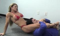 Ripped Maria G Kicks Some Guys Ass