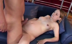 Pregnant slut gets pussy drilling