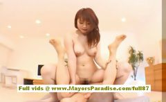 Risa Kasumi Asian girl is riding a hard cock