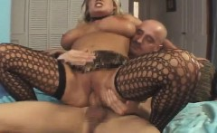 Big boobed Rachel Love blows his wanker and gets nailed by it