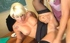Blonde Teachers Pussy Streched Summer Storm