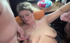 German Step-Mom Seduce to Fuck by two Young Boy