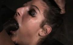 Slave Teen Got Face Destroyed by Big Cocks!