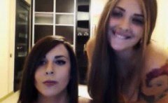 Two Hot Teen Lesbians Kssing On Webcam