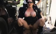 Boob Boobed Female Cops Interracial Facial Outdoors