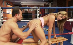 Amazing busty blonde fucks her horny boxing coach