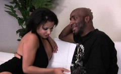 Pretty brunette Alexis Silver prefers black cock