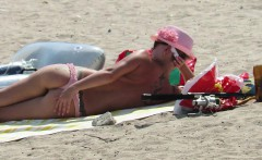 Big Boobs Amateur Beach MILFs - Topless Voyeur Beach Video