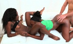 Hardcore pounding with two hot busty ebony babes