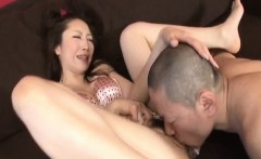 Koyuki Hara hot Asian milf is pussy licked before giving