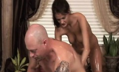 Skinny masseuse giving nuru massage