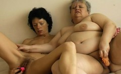 Extremely fat chubby granny toys and pussy fisting