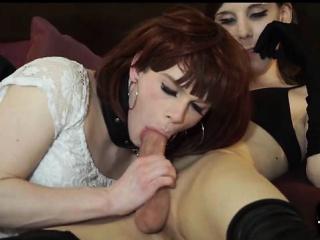 British Tgirls Fucking and Licking Cum!