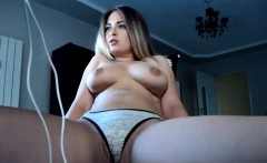 Luxury Big Tits Blonde Is Pleasured In A Solo Homemade Act