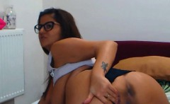 Hot KAITLYNN with sexy glasses fucks her tight ass ALIVEGIRL