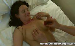 Dirty amateur slut gets horny getting