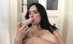 Chubby euro mature pleasures herself