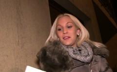 Fake public agent bangs blonde pov