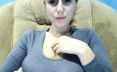Sexy Redhead with Perfect Boobs and Nipples on Live Ca more