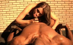 Babe Sucking Black Cock Behind Her Apartment in public