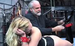 Woman endures stimulation in wild amateur fetish movie